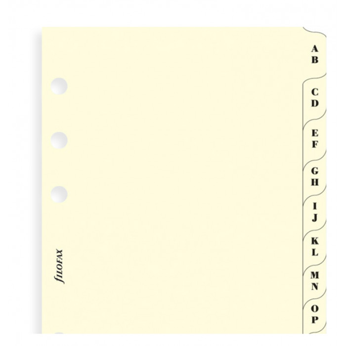 A-Z Index Cream A5 - Two Letters Per Tab